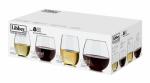 Libbey Glass 80866 Vineyard Reserve Stemless Wine Glass Set, 8-Pc.