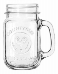 Libbey Glass 97085 Mason Jar Drinking Glass, 16.5-oz., Must Purchase in Quant. of 12