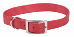 Coastal Pet Products 00901 B RED20 Dog Collar, Red Nylon, 1 x 20-In.