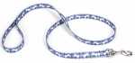 Coastal Pet Products 00466 PBO06 Dog Leash, Plaid/Bones, Blue Nylon, 5/8-In. x 6-Ft.