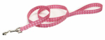 Coastal Pet Products 00466 PDT06 Dog Leash, Plaid/Bones, Blue Nylon, 5/8-In. x 6-Ft.