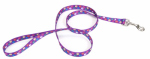 Coastal Pet Products 00466 SPW06 Dog Leash, Paws, Nylon, 5/8-In. x 6-Ft.