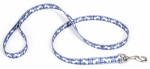 Coastal Pet Products 00966 PBO06 Dog Leash, Plaid/Bones, Blue Nylon, 1-In. x 6-Ft.