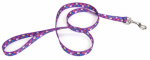 Coastal Pet Products 00966 SPW06 Dog Leash, Paws, Nylon, 1-In. x 6-Ft.