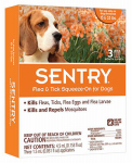 Sergeants Pet Care Prod 02363 Flea & Tick Treatment, For Dogs 15-33 Lbs., 3-Ct.
