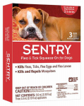 Sergeants Pet Care Prod 02364 Flea & Tick Treatment, For Dogs 33-66 Lbs., 3-Ct.