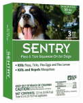 Sergeants Pet Care Prod 02365 Flea & Tick Treatment, For Dogs Over 66-Lbs., 3-Ct.