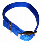 Coastal Pet Products 02901 B BLU26 Dog Collar, 2-Ply, Blue Nylon, 1 x 26-In.