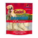Ims Trading 10010 Gourmet Dog Treats, Rawhide Bone, 4-5-In., 1-Lb.