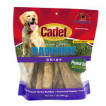 Ims Trading 10063-16 Gourmet Dog Treats, Rawhide Chips, Peanut Butter, 1-Lb.