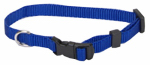 Coastal Pet Products 06301 A BLU12 Dog Collar, Adjustable, Blue Nylon, 3/8 x 8-12-In.