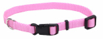 Coastal Pet Products 06301 A PKB12 Dog Collar, Adjustable, Pink Nylon, 3/8 x 8-12-In.
