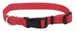 Coastal Pet Products 06301 A RED12 Dog Collar, Adjustable, Red Nylon, 3/8 x 8-12-In.