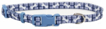 Coastal Pet Products 06321 A PBO12 Dog Collar, Adjustable, Plaid/Bones, Nylon, 3/8 x 8-12-In.