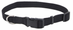 Coastal Pet Products 06401 A BLK14 Dog Collar, Adjustable, Black Nylon, 5/8 x 10-14-In.