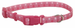 Coastal Pet Products 06402 A PDT18 Dog Collar, Adjustable, Dot, Pink Nylon, 5/8 x 12-18-In.