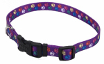 Coastal Pet Products 06402 A SPW18 Dog Collar, Adjustable, Paws, Nylon, 5/8 x 12-18-In.