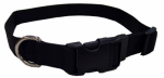 Coastal Pet Products 06601 A BLK20 Dog Collar, Adjustable, Black Nylon, 3/4 x 14-20-In.