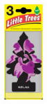 Car Freshner U3S-37505 Little Trees Car Air Freshener, Relax Scent, 3-Pk.