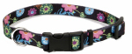 Coastal Pet Products 06402 A WDF18 Dog Collar, Adjustable, Wildflower, Nylon, 5/8 x 12-18-In.