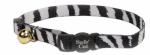 Coastal Pet Products 06781 A ZEB12 Cat Collar, Adjustable, Zebra Print, 12-In.