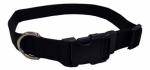 Coastal Pet Products 06901 A BLK26 Dog Collar, Adjustable, Black Nylon, 1 x 18-26-In.