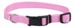 Coastal Pet Products 06901 A PKB26 Dog Collar, Adjustable, Pink Nylon, 1 x 18-26-In.