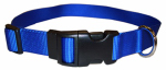 Coastal Pet Products 06901 A BLU26 Dog Collar, Adjustable, Blue Nylon, 1 x 18-26-In.