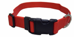 Coastal Pet Products 06901 A RED26 Dog Collar, Adjustable, Red Nylon, 1 x 18-26-In.