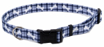 Coastal Pet Products 06902 A PBO26 Dog Collar, Adjustable, Plaid/Bones, Nylon, 1 x 18-26-In.