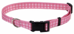 Coastal Pet Products 06902 A PDT26 Dog Collar, Adjustable, Dot, Pink Nylon, 1 x 18-26-In.