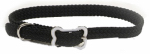 Coastal Pet Products 08501 BLK12 Sunburst Dog Collar, Braided, Black Nylon, 3/8 x 12-In.
