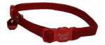 Coastal Pet Products 07001 A RED12 Cat Collar, Adjustable, Red, 12-In.