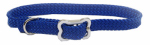 Coastal Pet Products 08501 BLU12 Sunburst Dog Collar, Braided, Blue Nylon, 3/8 x 12-In.