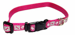 Coastal Pet Products 46382 A PKF12 Dog Collar, Reflective, Adjustable, Pink Flamingo, 3/8 x 8-12-In.