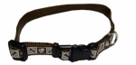 Coastal Pet Products 46382 A CPS12 Dog Collar, Reflective, Adjustable, Chocolate, 3/8 x 8-12-In.