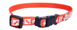 Coastal Pet Products 46382 A RPS12 Dog Collar, Reflective, Adjustable, Red, 3/8 x 8-12-In.