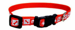 Coastal Pet Products 46481 A RPS18 Dog Collar, Reflective, Adjustable, Red, 5/8 x 12-18-In.