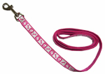 Coastal Pet Products 46484 B PKF04 Lazer Brite Dog Leash, Reflective, Pink Paw & Bone, 5/8-In. x 4-Ft.