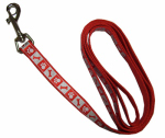 Coastal Pet Products 46484 B RPS04 Lazer Brite Dog Leash, Reflective, Red, 5/8-In. x 4-Ft.