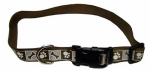 Coastal Pet Products 46981 A CPS26 Dog Collar, Reflective, Adjustable, Chocolate, 1 x 18-26-In.