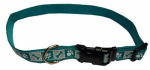 Coastal Pet Products 46981 A TWP26 Dog Collar, Reflective, Adjustable, Teal, 1 x 18-26-In.