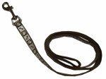 Coastal Pet Products 46984 B CPS04 Lazer Brite Dog Leash, Reflective, Chocolate, 1-In. x 4-Ft.
