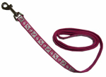 Coastal Pet Products 46984 B PKF04 Lazer Brite Dog Leash, Reflective, Pink Flamingo, 1-In. x 4-Ft.