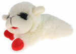 Multipet International 48371 Mini Lamb Chop Squeekie Dog Toy, 6-In.