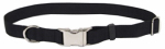 Coastal Pet Products 61091 A BLK26 Dog Collar, Adjustable, Black Nylon, 1 x 16-18-In.