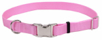 Coastal Pet Products 61601 A PKB18 Dog Collar, Adjustable, Pink Nylon, 3/4 x 12-18-In.