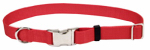 Coastal Pet Products 61901 A RED26 Dog Collar, Adjustable, Red Nylon, 1 x 18-26-In.