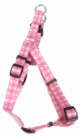Coastal Pet Products 66345 A PDT18 Dog Harness, Adjustable, Dot, Pink Nylon, 3/8 x 12-18-In.