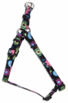 Coastal Pet Products 66345 A WDF18 Dog Harness, Adjustable, Wildflower, Nylon, 3/8 x 12-18-In.